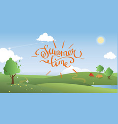 Summer landscape background vector