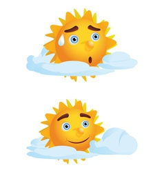 Sun with Clouds2 vector image vector image