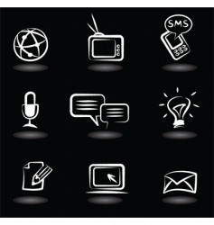 technology icons vector image vector image
