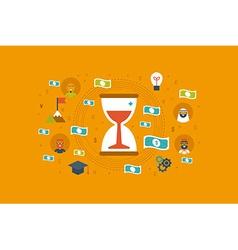 Time money concept vector