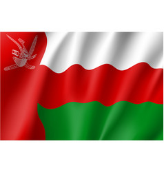 Waving flag of sultanate of oman vector