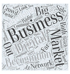 What is the big r for marketing your business word vector