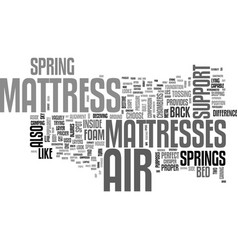 Why choose an air mattress text word cloud concept vector