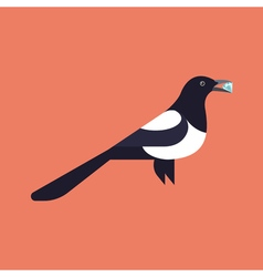 magpie holding diamond vector image