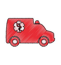 isolated ambulance truck vector image