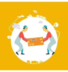 loader bears box icon vector image