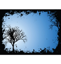 grunge trees vector image