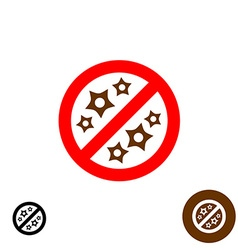 No allergy sign vector