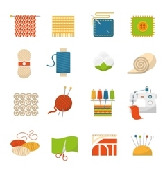 Textile industry icons vector