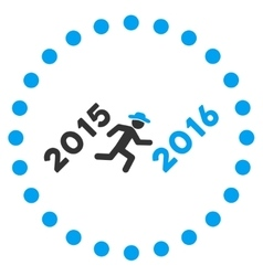 Run to 2016 year icon vector