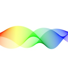 Colorful wavy lines vector