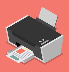 Printer flat style isometric vector