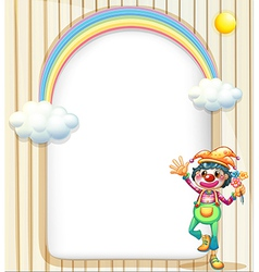 A female clown and the empty template vector image vector image