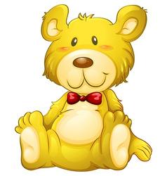 A huggable yellow bear vector