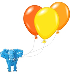 African elephant with balloons vector