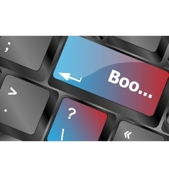 Boo word on computer keyboard keys keyboard keys vector