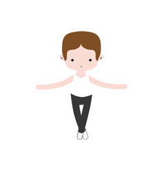 Boy dancing ballet with professional clothes vector