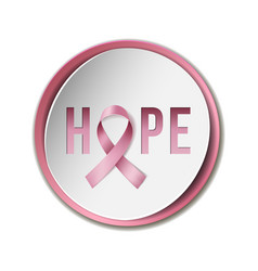 breast cancer awareness concept vector image vector image