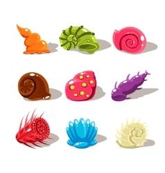 Cartoon Sea Shells Set vector image vector image