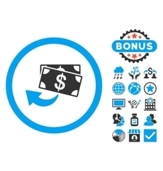 Cashback flat icon with bonus vector