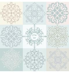 Classic Vintage Ornaments Pattern set vector image