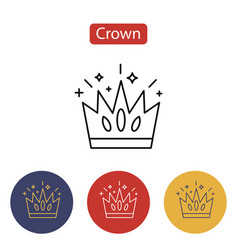 crown icon isolated on white background vector image vector image