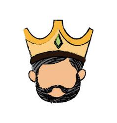 Cute cartoon wise king manger character vector