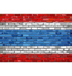 Flag of Thailand on a brick wall vector image vector image