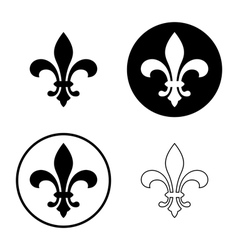 Fleur de lis icon set vector