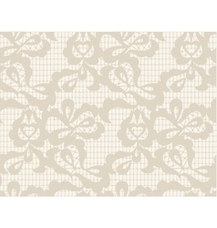 Floral lace vintage rustic seamless pattern vector