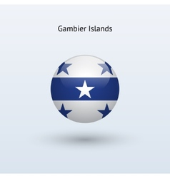 Gambier Islands round flag vector image
