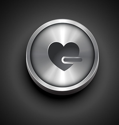 Heart shape icon vector