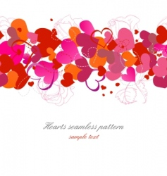 hearts and roses background vector image vector image