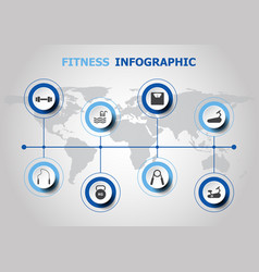 Infographic design with fitness icons vector