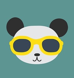 Panda glasses vector image