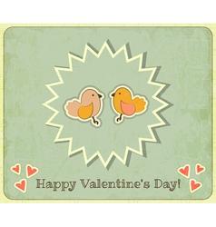 Retro Valentines Day vector image vector image