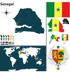 Senegal map vector