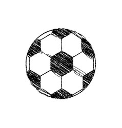 Silhouette drawing soccer ball element sport vector