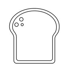 Slice bread bakery thin line vector