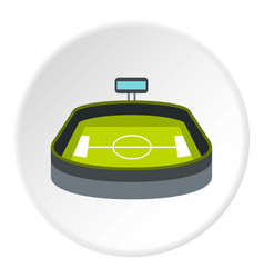 Stadium icon circle vector