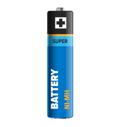 super powerful and compact battery vector image