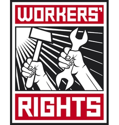 Socialist workers rights posters vector