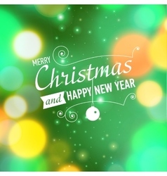 Merry christmas post card template vector