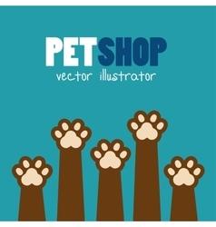symbol pet shop paw print brown icon vector image