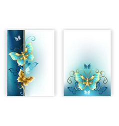 Design for brochure with luxury butterflies vector