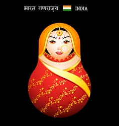 Matryoshka Indian girl vector image