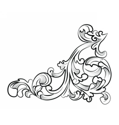 Royal classic ornament element vector image