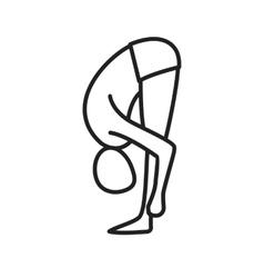 Forward bend pose vector