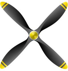 Airplane propeller vector image