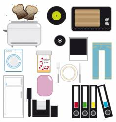 Household articles vector